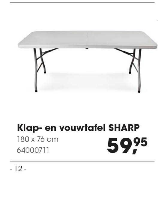 HANOS Klap- En Vouwtafel Sharp 180 X 76 Cm