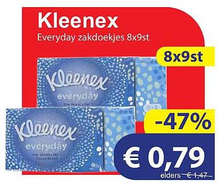 Die Grenze Kleenex Everyday Zakdoekjes 8x9st