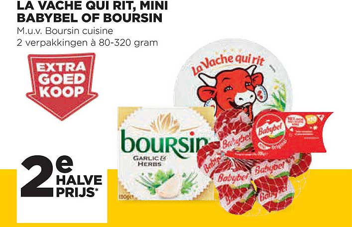 Jumbo La Vache Qui Rit, Mini Babybel Of Boursin