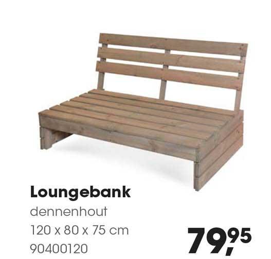 HANOS Loungebank Dennenhout 120 X 80 X 75 Cm