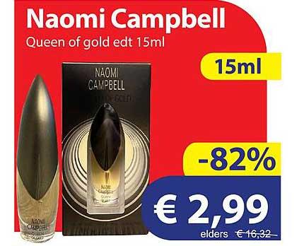 Die Grenze Naomi Campbell Queen Of Gold Edt 15ml