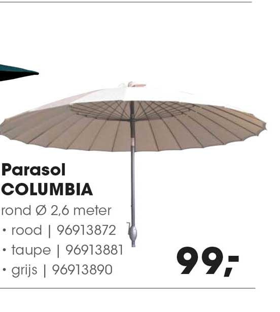 HANOS Parasol Columbia Ø 2.6 Meter