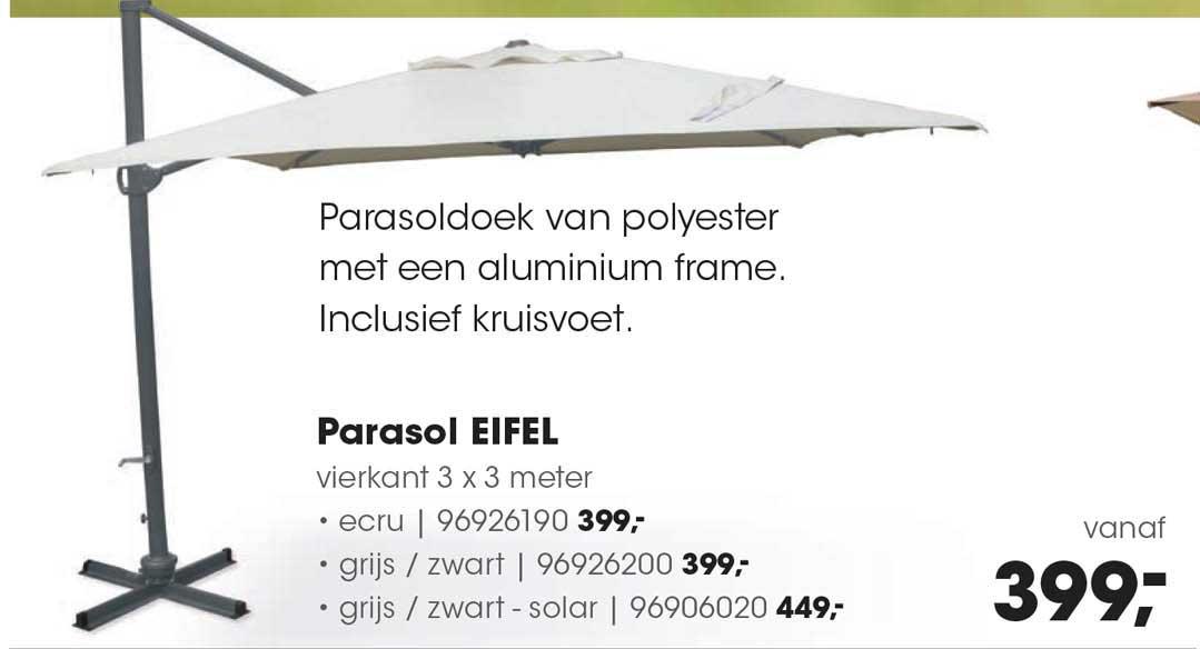HANOS Parasol Eifel 3 X 3 Meter
