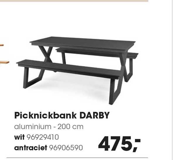 HANOS Picknickbank Darby Aluminium - 200 Cm