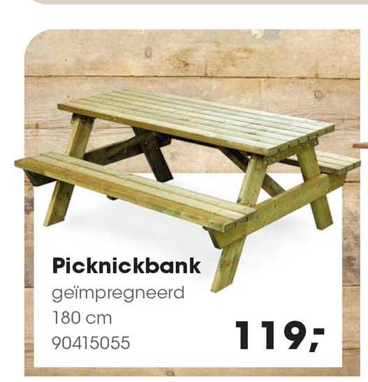 HANOS Picknickbank Geïmpregneerd 180 Cm