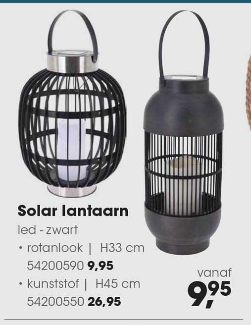 HANOS Solar Lantaarn Led - Zwart