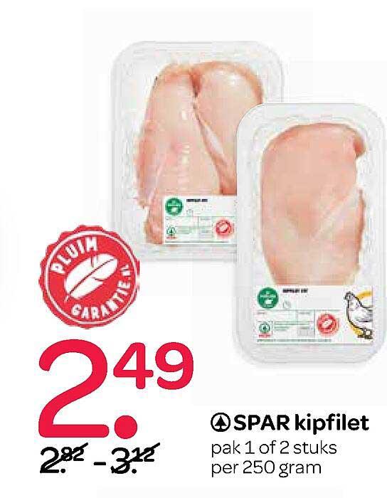 Spar Spar Kipfilet 250 Gram