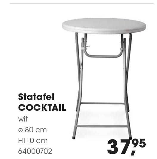 HANOS Statafel Cocktail Ø 80 Cm H110 Cm