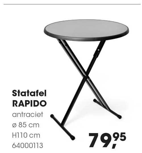 HANOS Statafel Rapido Ø 85 Cm H110 Cm