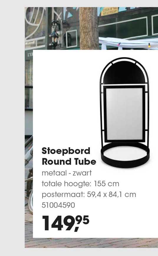 HANOS Stoepbord Round Tube