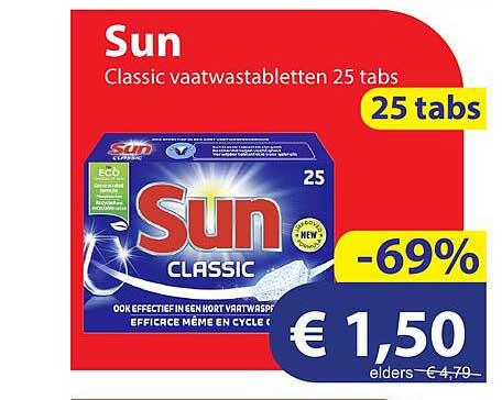 Die Grenze Sun Classic Vaatwastabletten 25 Tabs