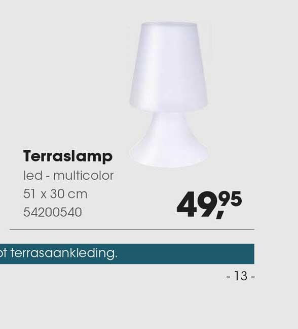 HANOS Terraslamp Led - Multicolor 51 X 30 Cm