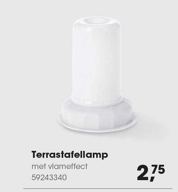 HANOS Terrastafellamp Met Vlameffect