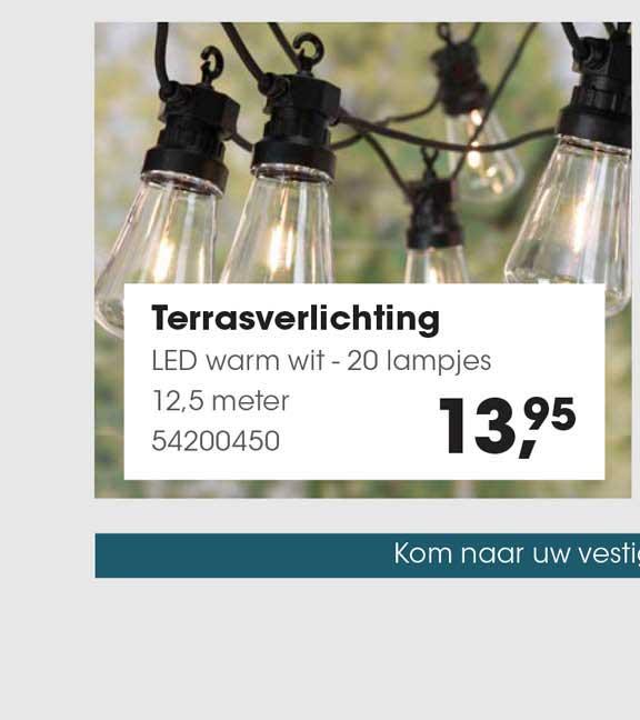 HANOS Terrasverlichting Led Warm Wit - 20 Lampjes