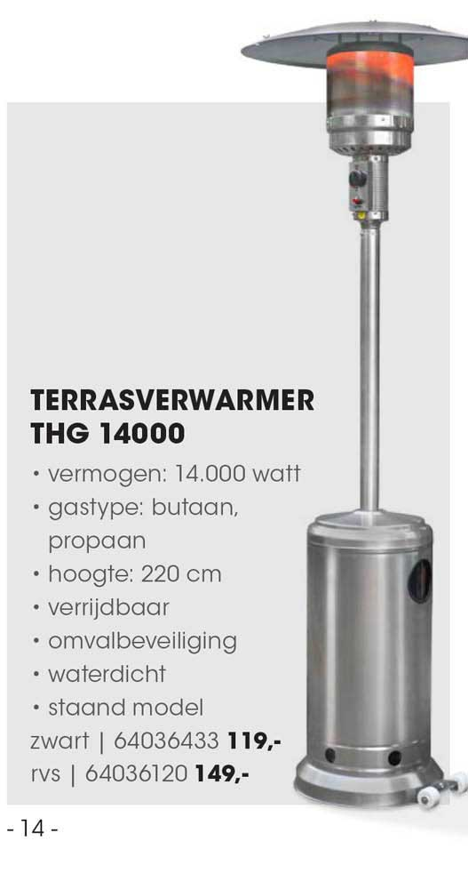 HANOS Terrasverwarmer THG 14000