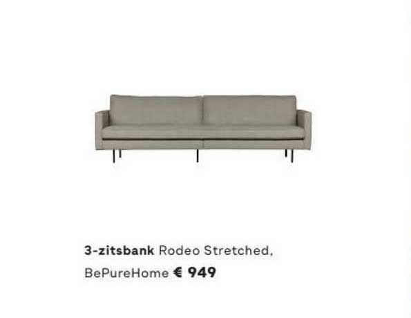 FonQ 3-Zitsbank Rodeo Stretched BePureHome