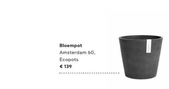 FonQ Bloempot Amsterdam 60, Ecopots