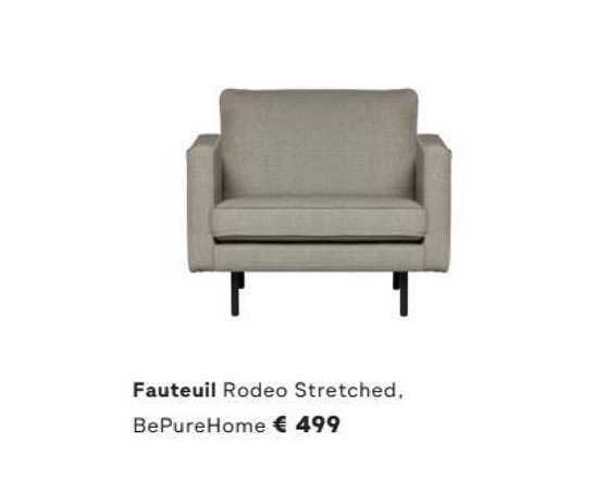 FonQ Fauteuil Rodeo Stretched, BePureHome