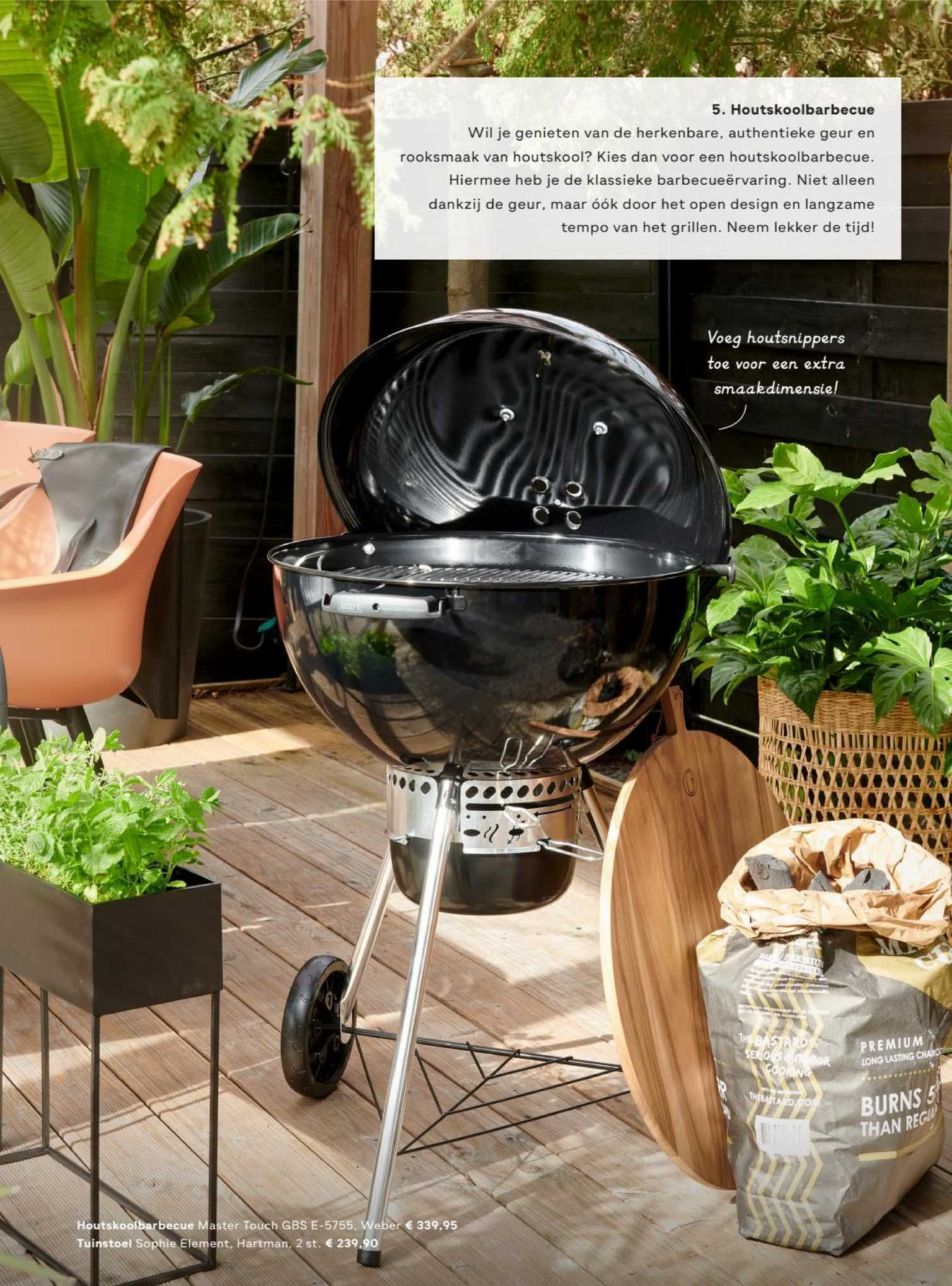 FonQ Houtskoolbarbecue Master Touch GBS E-5755, Weber Of Tuinstoel Sophie Element, Hartman 2 St.