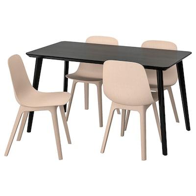 IKEA LISABO / ODGER Tafel En 4 Stoelen