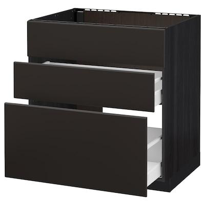 IKEA METOD / MAXIMERA Onderkast Spoelbak+3 Front/2 Lades