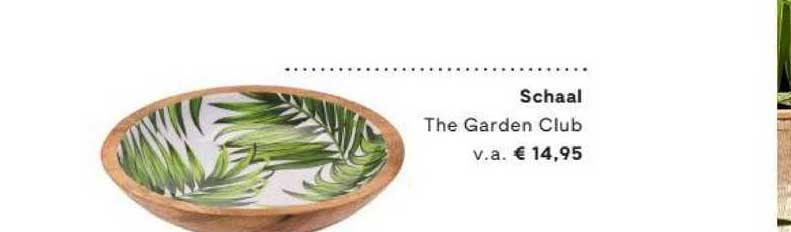 FonQ Schaal The Garden Club