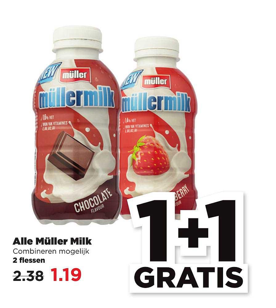 PLUS Alle Muller Milk 1+1 Gratis