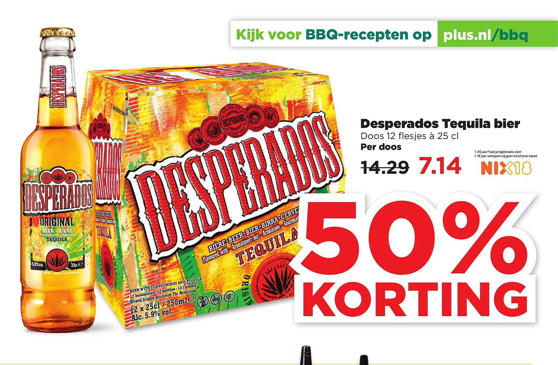PLUS Desperados Tequila Bier 50% Korting