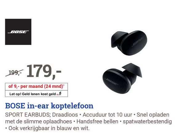 BCC Bose In-Ear Koptelefoon Sport Earbuds