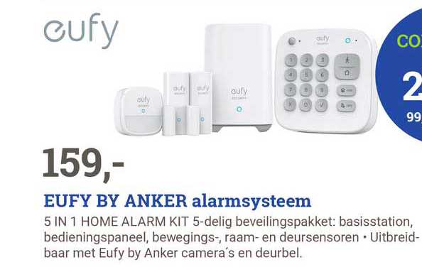 BCC Eufy By Anker Alarmsysteem 5 In 1 Home Alarm Kit 5-Delig