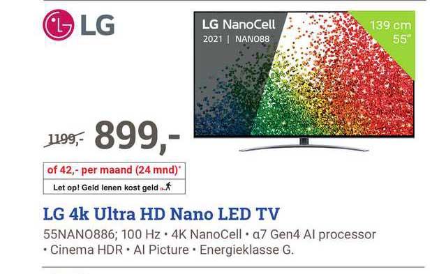 BCC LG 4K Ultra HD Nano Led TV 55Nano886