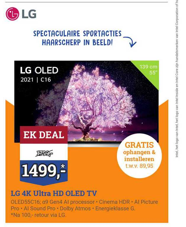 BCC LG 4K Ultra HD OLED TV OLED55C16