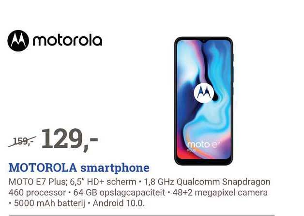 BCC Motorola Smartphone Moto E7 Plus