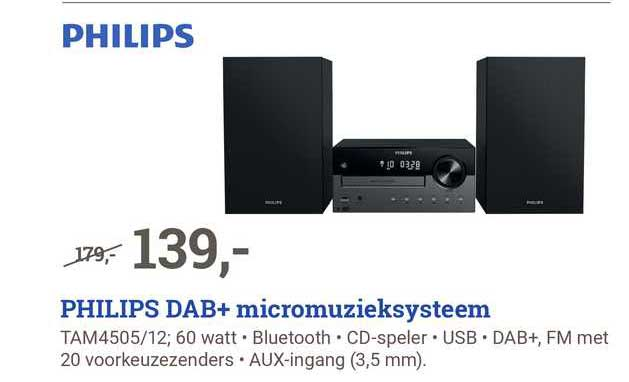 BCC Philips DAB+ Micromuzieksysteem Tam4505-12