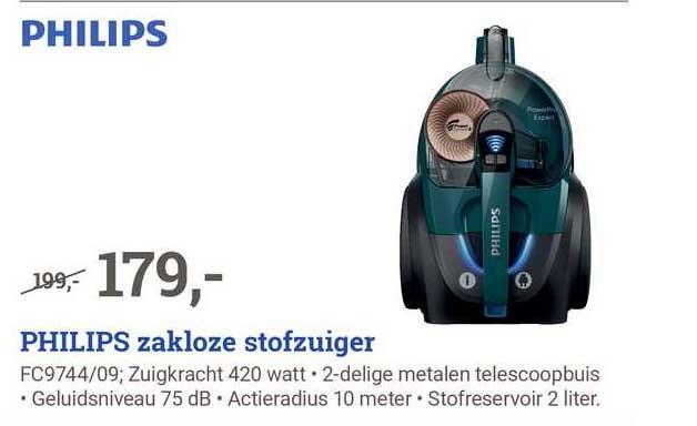 BCC Philips Zakloze Stofzuiger FC9744-09