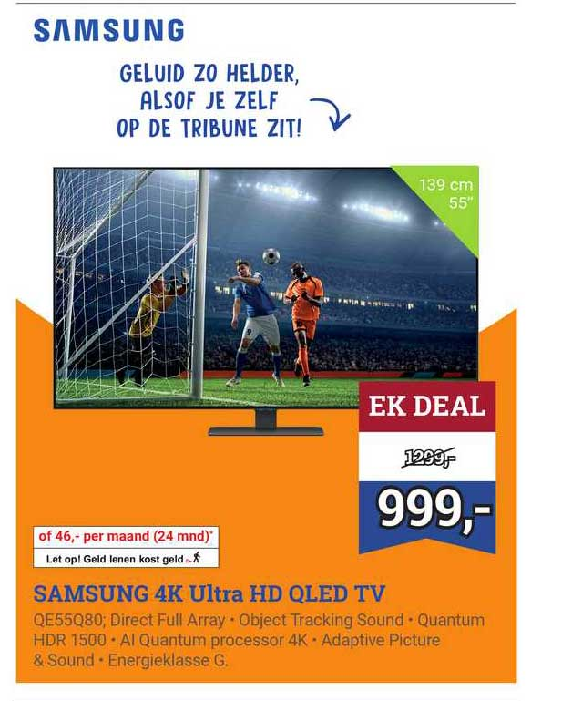 BCC Samsung 4K Ultra HD QLED TV QE55Q80