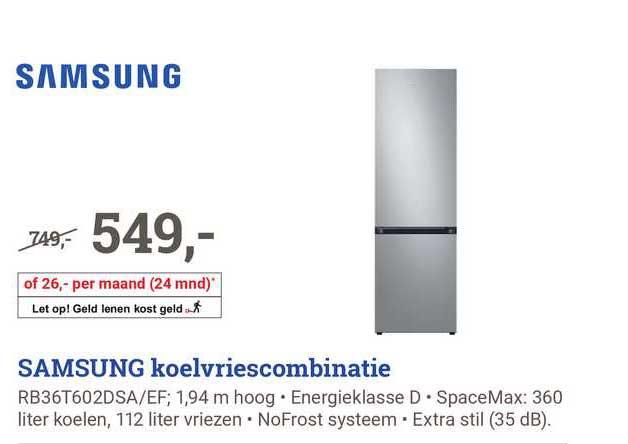 BCC Samsung Koelvriescombinatie RB36T602DSA-EF