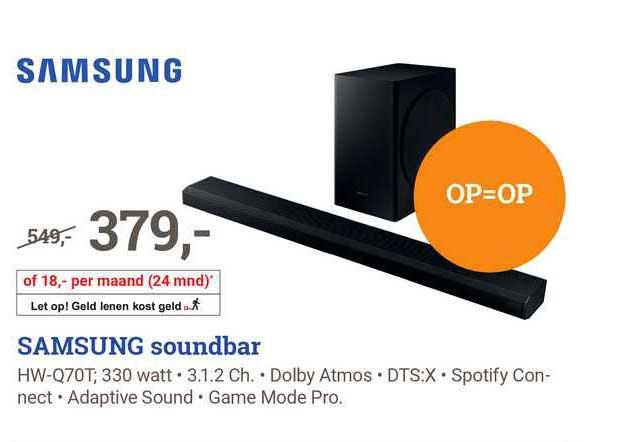 BCC Samsung Soundbar HW-Q70T