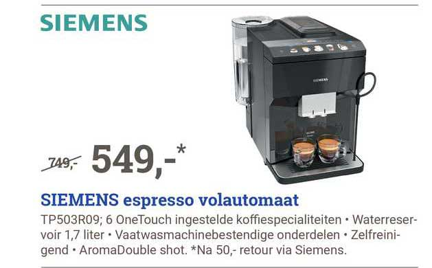 BCC Siemens Espresso Volautomaat TP504R09