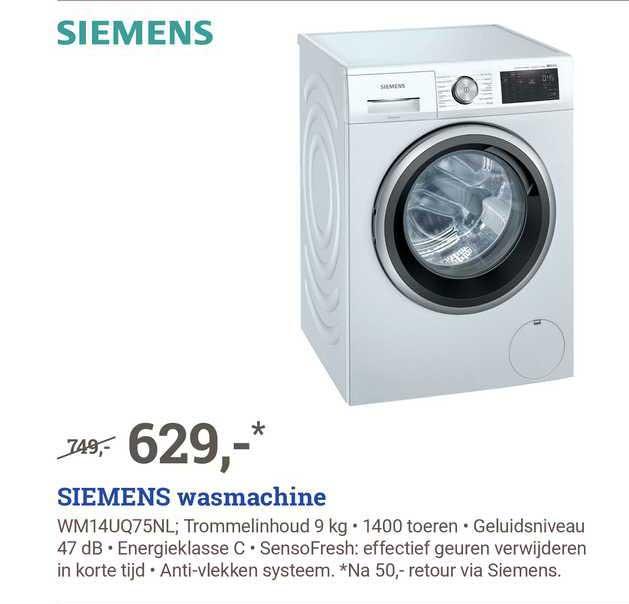 BCC Siemens Wasmachine WM14UQ75NL