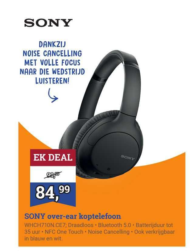 BCC Sony Over-Ear Koptelefoon WHCH710N.CE7