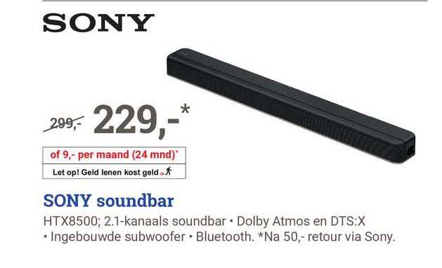 BCC Sony Soundbar HTX8500