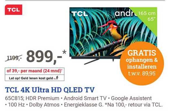 BCC TCL 4K Ultra HD QLED TV 65C815