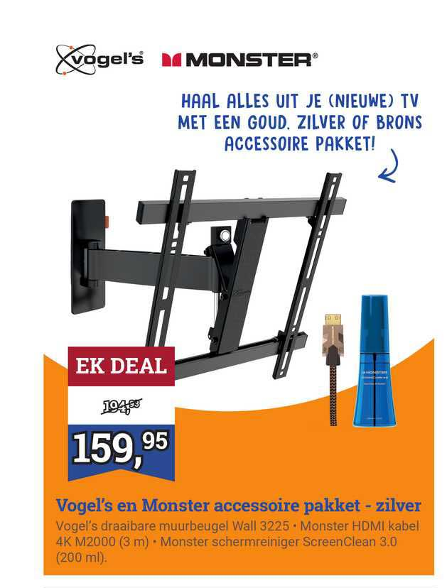 BCC Vogel's En Monster Accessoire Pakket - Zilver