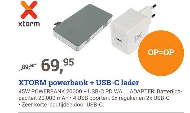 BCC Xtorm Powerbank + USB-C Lader