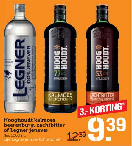 Coop Hooghoudt Kalmoes Beerenburg, Zachtbitter Of Legner Jenever