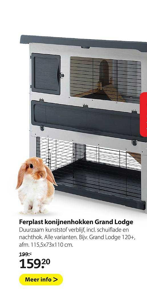 Pets Place Ferplast Konijnenhokken Grand Lodge