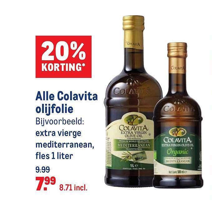 Makro Alle Colavita Olijfolie 20% Korting