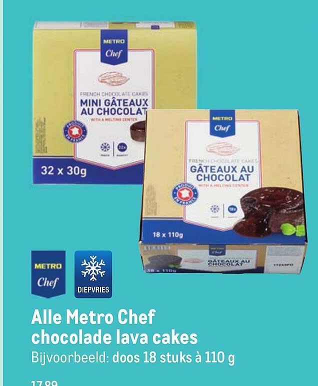 Makro Alle Metro Chef Chocolade Lava Cakes