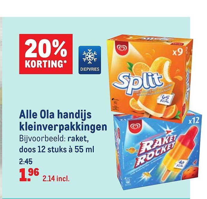 Makro Alle Ola Handijs Kleinverpakkingen 20% Korting